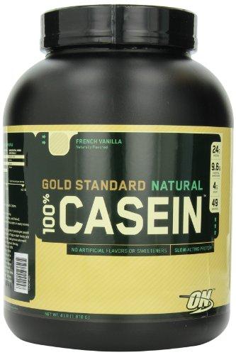 Optimum Nutrition 100% de caséine protéine, Vanille française, 4 Pound