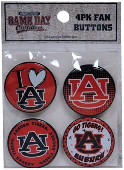 Multicolor One Size//1.25 Game Day Outfitters NCAA Auburn Tigers Button Set 4 Pack