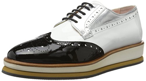 Marc Cain Gb Sc.08 L35 - Zapatos Mujer Schwarz (Black And White)