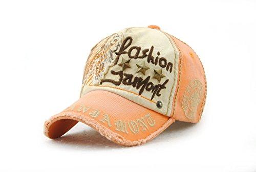 para Hombre naranja béisbol de Gorra Leezeshaw ZtxHqw676I