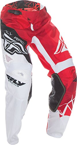 Fly Kinetic Gloves - Fly Racing Unisex-Adult Kinetic Crux Pants (Red/White, Size 34)