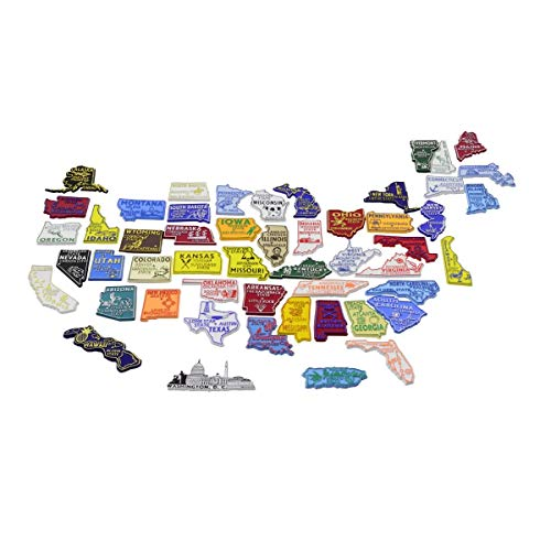 All 50 State Magnets Plus D.C. and Puerto Rico Complete Set (State Fridge Magnets)