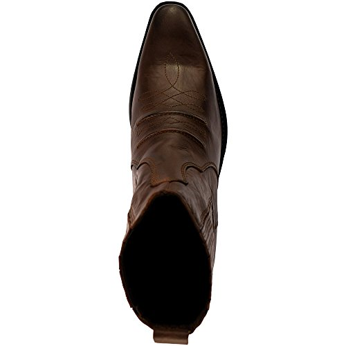 Gringos Gusset Western Mens Ankle Cowboy Boots Brown