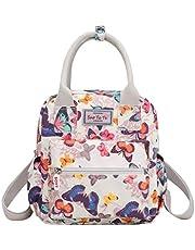 Trendy generous super cute Lightweight Nylon Backpack Waterproof Multi-pocket Shoulder Bag Girl's Bag Wallet,Size:24 * 9 * 26cm,Colour:Rose (Color : Colorful Butterfly, Size : 24 * 9 * 26cm)