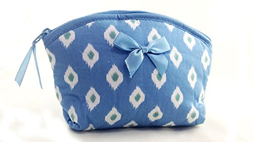 cosmetic-and-makeup-bag-zipper-twill-blue-cotton