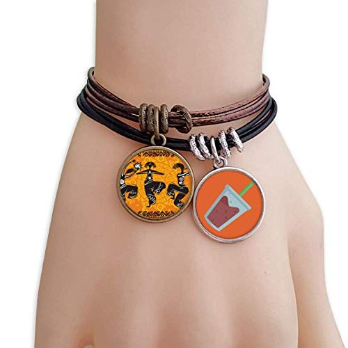 (DIYthinker Dance People Mexico Totems Mexican Flute Bracelet Rope Juice Wristband)