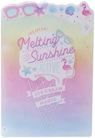 子供 文房具[デスクパッド]ダイカット 下敷き/Melting Sunshine ICE POP 女の子向け