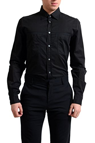 gianfranco-ferre-mens-black-button-down-casual-shirt-us-s-it-48