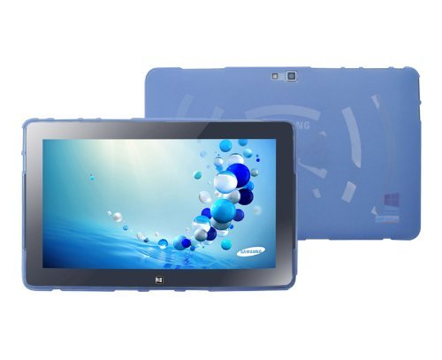 TPU Skin Case Cover (Blue) For Samsung ATIV Smart PC Tablet 500T1C Tablet ()