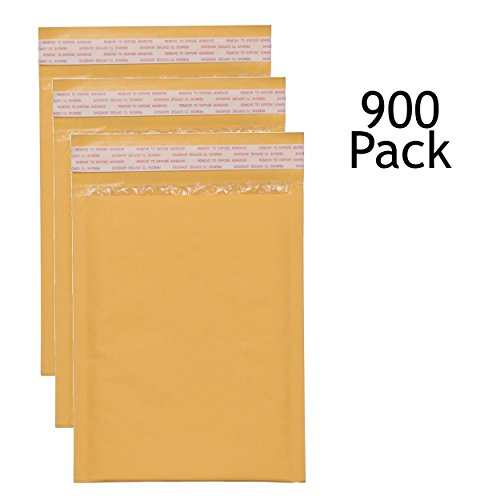 SVI Sales 12.5'' x 19'' Padded Self Seal Bubble Lined Gold Mailers Ship with UPS, USPS, FedEx and More, Pack of 900 Gold Colored Bubble Mailers by SVI Sales