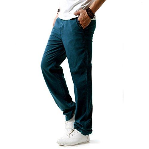 ach Trousers linen  Summer Pants, Blue, XXX-Large ()