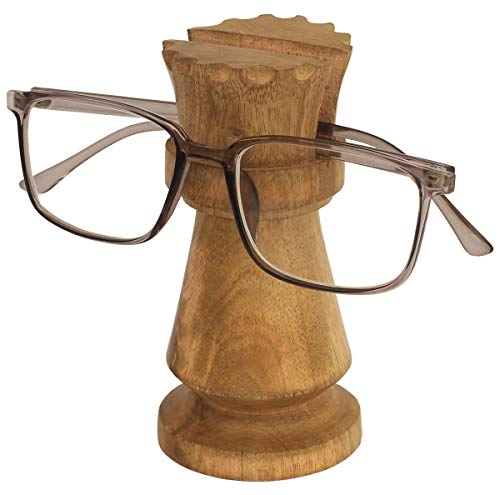 Mother's Day Sale on Chess Set Queen Spectacle Holder - Best Buy Crafkart Queen Spectacle Holder Wooden Eyeglass Stand Handmade Display Optical Glasses Accessories ()