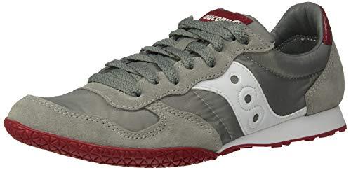 Saucony Originals Men's Bullet Sneaker Wild Dove/Rio red 8 M US