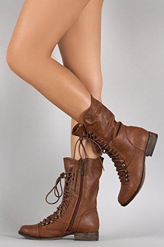 Fourever Funky, Damen Stiefel & Stiefeletten , Beige - Beige (A-Tan) - Größe: 42 EU M