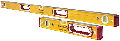"Stabila 37816 Heavy Duty Type 196 Level Set - includes 48"" and 16"" Levels with Handholes"
