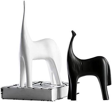 Creativo Blanco y Negro Series Abstracción Caballo Inicio ...