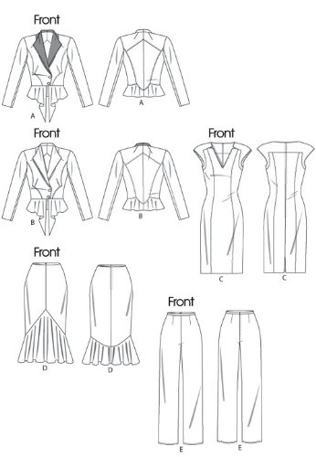 Misses' Pants 16 14 Jacket Dress SEWING PATTERN 18 and Skirt EE 20 IrASrg