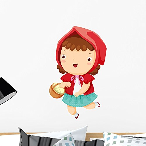 Wallmonkeys WM182129 Little Red Riding Hood Peel and Stick Wall Decals (24 in H x 16 in W), Medium