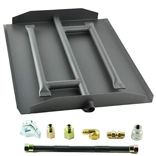 Dreffco 17 Inch Triple Gas Fireplace Burner Kit NG or LP