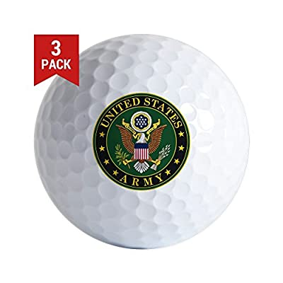 CafePress - U.S. Army Golf Ball - Golf Balls (3-Pack), Unique Printed Golf Balls