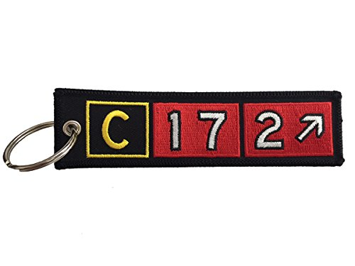 Cessna 172 Airport Taxiway Sign Embroidered Keychain ()