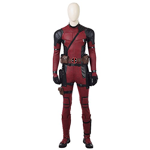 DP Movie Cosplay Costume Wade Costume Deluxe Leather Jumpsuit Outfit Bodysuits Halloween Costumes Male2XL