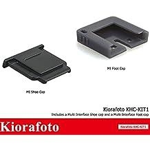 Kiorafoto Camera Hot Shoe Cover Cap & MI Shoe Protector for Sony A7RII A7SII A99II A77II A6500 A6300 A6000 RX10II RX100II as FA-SHC1M and Sony Flashes HVL-F60M HVL-F20M Microphones ECM-XYST1M ECM-W1M