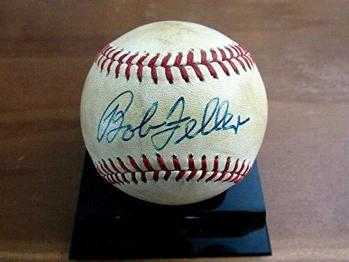 Autographed Bob Feller Ball - Hof Vintage Feeney Onl - JSA Certified - Autographed Baseballs
