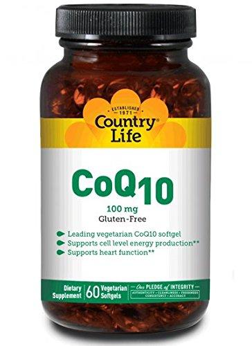 Country Life Vegan CoQ10 100 Milligram 60 Vegan Softgel