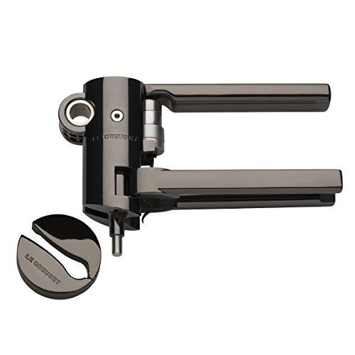 Le Creuset Advanced Lever Corkscrew Set and Foilcutter, Black Nickel (Corkscrew Lever Set)