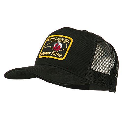 North Carolina Highway Patrol Patched Mesh Cap - Black OSFM