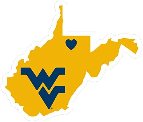 NCAA Siskiyou Sports Fan Shop West Virginia Mountaineers Home State Decal One Size Team Color