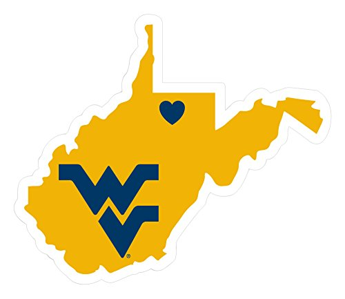 NCAA West Virginia Mountaineers Home State Decal, 5 Inch (Vinyl Virginia Mountaineers West)
