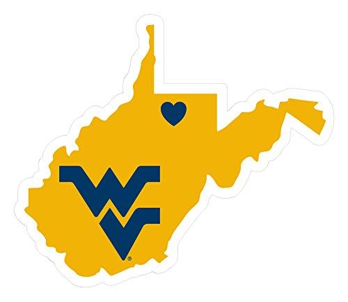 NCAA West Virginia Mountaineers Home State Decal, 5 Inch (Virginia West Mountaineers Vinyl)