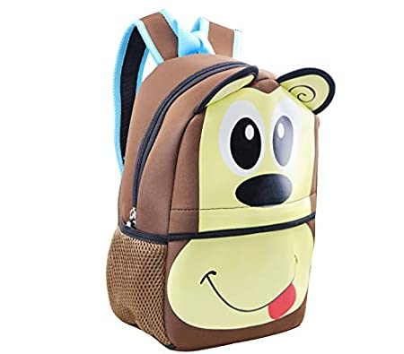 12 Insulated Backpack for Kids Toddler Backpack by Fenrici for Girls Boys Cute Zoo Animal Bag BUTTERFLY PINK