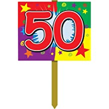 50 Birthday Yard Sign Party Accessory (1 count)