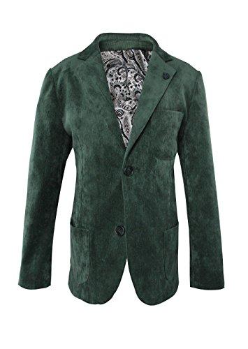 Green Corduroy Blazer - Luca Gabriel Toddler Boys' Single Breast Elbow Patch Corduroy Blazer- Hunter Green