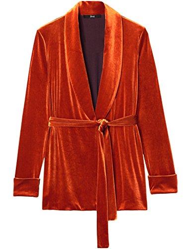 FIND Naranja para de Mujer Orange Chaqueta Terciopelo FqT40