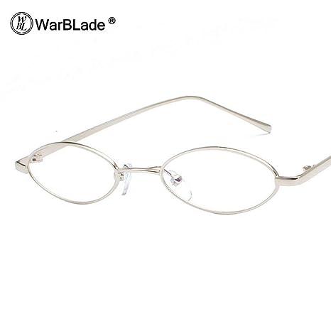 Amazon.com: Marco de gafas ovaladas para hombre Retro 2018 ...