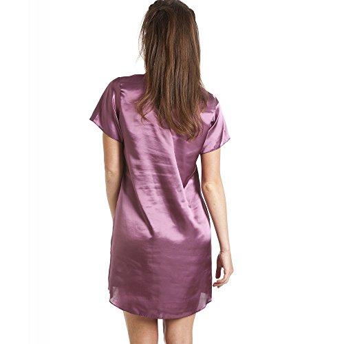 499500b9fe Camille Luxurious Knee Length Purple Satin Nightshirt - Import It All
