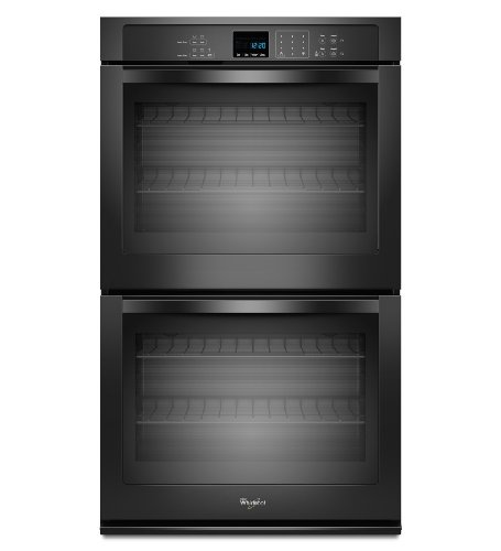 "Whirlpool - 30"" Built-in Double Electric Wall Oven - Black"