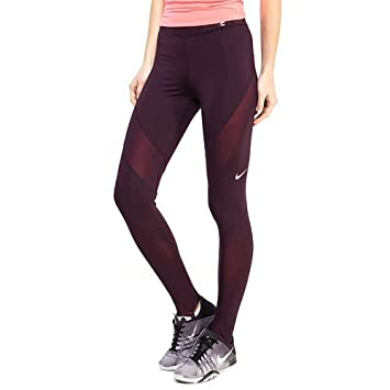 best cheap f9415 2185e Nike Women s W Np Hprwm Tights, Port Wine Racer Pink, Small