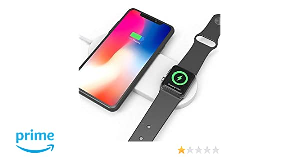 Amazon.com: Fast Wireless Charger - Ultra-Thin 2 in1 Charging Pad Stand Compact Wireless Charging 7.5W for iPhone X/XS/XR/ 8 Plus 10W for Samsung Galaxy ...