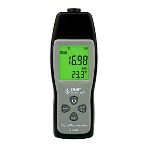 Shengjuanfeng Medidor de Velocidad de rotación Foto Digital de láser Tacómetro Velocímetro Tacómetro fotoeléctrico 2.5~99999 Probador de RPM para Motor de ...
