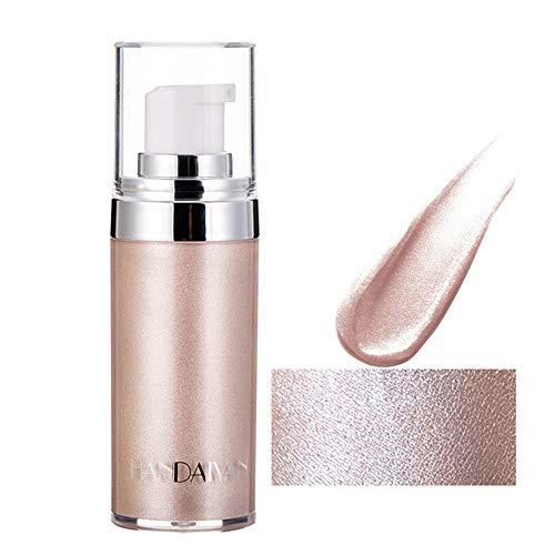 Body Face Luminizer Highlighter Cream Spray Liquid Bronzer Illuminator Glow Glistening Makeup Foundation (#01 Pearl…