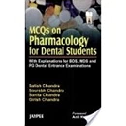 MCQs on Pharmacology for Dental Students with Explanation for BDS, MDS and PG Dental Entrance Examinations