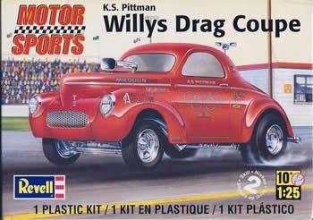 Revell K.S. Pittman Willys Drag Coupe Plastic Model ()