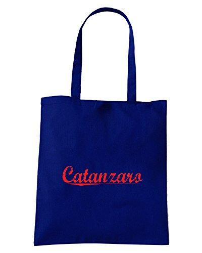 T-Shirtshock - Bolsa para la compra OLDENG00314 catanzaro vintage Azul Marino
