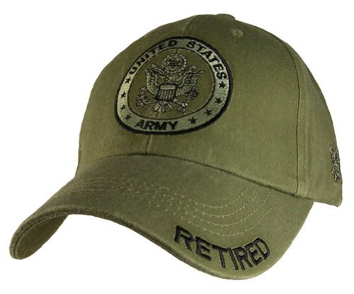 U.S. Army Retired Distressed Green Baseball Cap Hat Army Baseball Cap Hat
