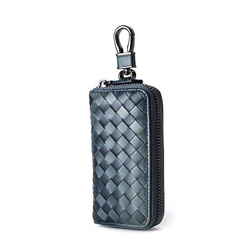 Mefly Key Wrap Colgando De La Cintura De Cuero Grandes Hombres Multifuncional Tirano Gold Small blue